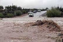 سیلاب جاده قدیم مشهد - چناران را مسدود کرد