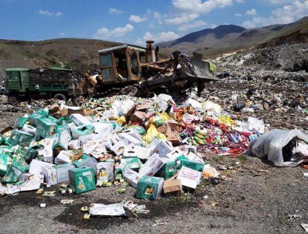 61 تُن مواد غذایی فاسد در کردستان ضبط و معدوم شد