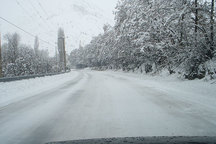بارش برف تردد تریلرها را در گردنه تیوان ممنوع کرد