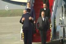 ظریف با استقبال نخستوزیر منطقه کردستان عراق وارد اربیل شد