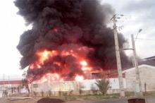 انفجار مهیب و آتشسوزی در شهرک صنعتى خمین اراک  2 کارگر جان باختند