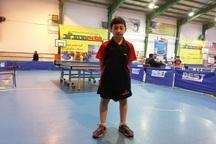 پسر مهابادی به اردوی تیم ملی تنیس روی میز نونهالان دعوت شد