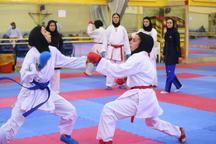 بانوان گیلانی درمسابقات ورودی تیم ملی کاراته دومدال کسب کردند