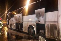 حادثه حریق اتوبوس کاروان راهیان نور میانه به خیر گذشت