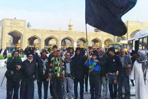 زائران عراقی با پای پیاده به مشهد رسیدند