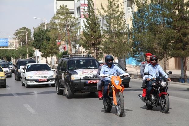 رژه موتوری نیروهای یگان حفاظت میراث فرهنگی کرمان برگزار شد