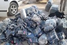 محموله البسه قاچاق در مهاباد کشف شد
