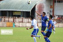 پیروزی تیم فوتبال داماش برابر بادران تهران در رشت