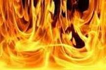 آتش سوزی در روستای سهند سفلی ماهنشان خسارت برجا گذاشت