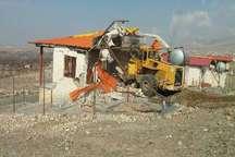 پنج بنای غیر مجاز در اراضی کشاورزی شهرستان قزوین تخریب شد