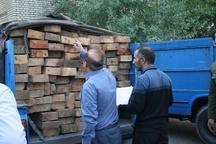 قاچاقچیان الوار جنگلی در مشگین شهر دستگیر شدند