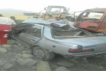 در برخورد ۷ خودرو، ۲ نفر جان باختند