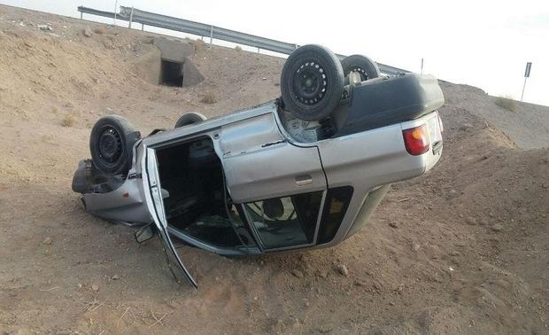 واژگونی خودرو در بردسکن به پنج نفر صدمه زد