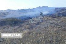 کوه چرمین سیروان دچار آتش سوزی شد