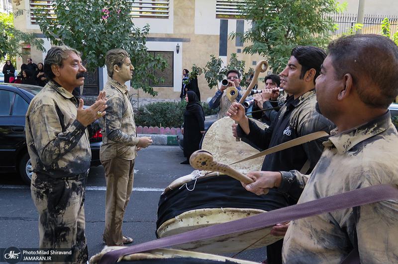 عزاداری ظهر عاشورا در هیئت عشاق العباس(ع) لرستانیهای پایتخت