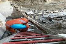 ریزش واحد مسکونی در مشهد و نجات چهار نفر از میان آوار