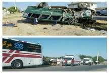 بیشتر 40 مصدوم تصادف مینی بوس در البرز سرپایی مداوا شدند