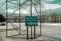 تابلوی اطلاع رسانی حرم مطهر امام درست نصب شده است