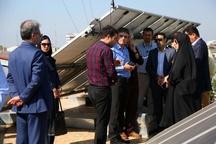 بازدید مدیران شهرداری رشت از پنل خورشیدی سازمان نظام مهندسی گیلان