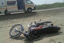 سه سانحه موتورسیکلت در یزد؛ یک نفر فوت کرد و ۲ نفر به کما رفتند