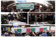 پیکر شهیدان گمنام در قوچان تشییع شد