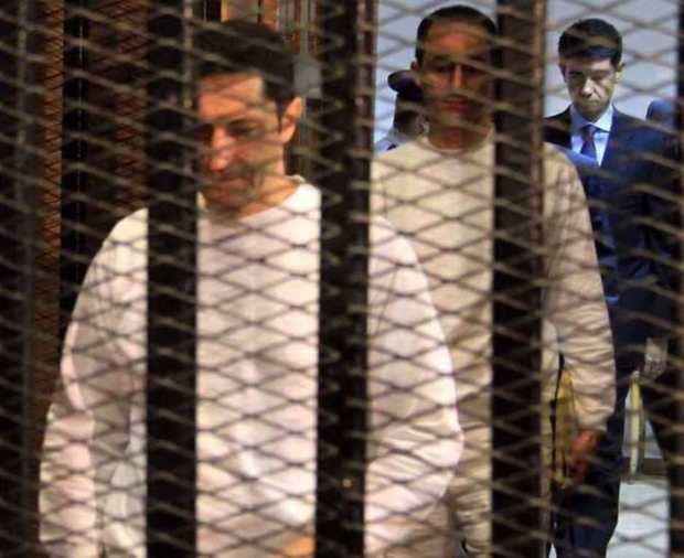 پسران حسنی مبارک بازداشت شدند