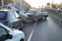 تصادف زنجیره ای 12 خودرو در جاده مشهد - تربت حیدریه