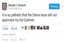 پست توئیتری ترامپ و ابراز تاسف برای دمکراتها