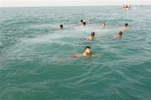 رقابتهای شنا در آبهای آزاد خلیج فارس برگزار شد