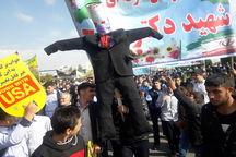 ملت ایران جنایتهای شیطان بزرگ را فراموش نمی کند