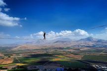 بلندترین هایلاین ایران در کوه بیستون نصب شد