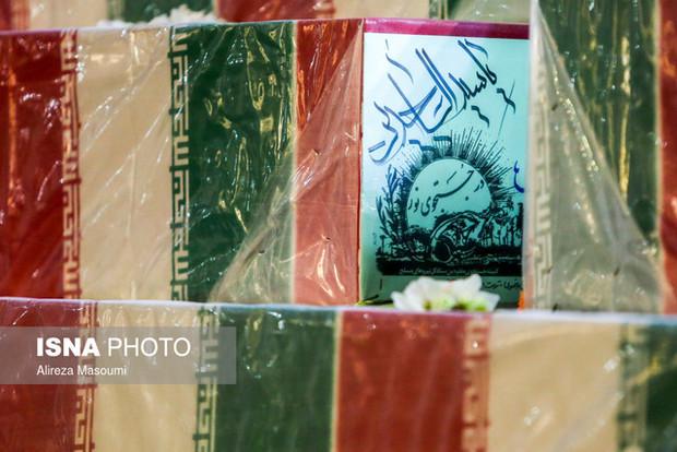 پیکر پاک ۴۴ شهید دفاع مقدس به کشور بازگشت