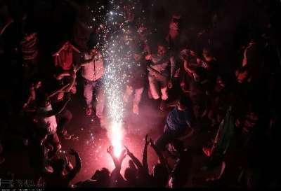 مردم یزد صعود مقتدرانه تیم ملی فوتبال به جام جهانی را جشن گرفتند