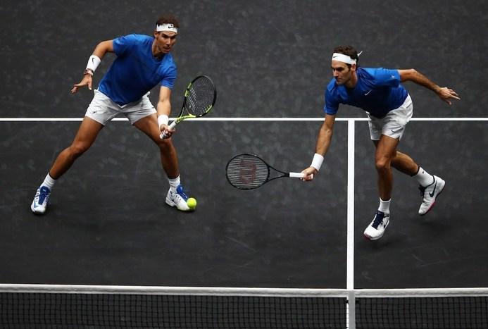 رقابت دیدنی دو ستاره تنیس جهان در کنار هم + تصاویر