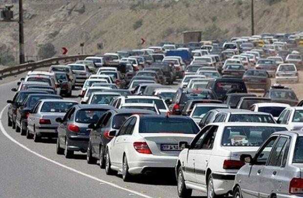 ترافیک در ورودیهای مشهد سنگین است