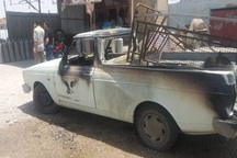 انفجار مخزن گاز خودرو در اندیمشک حادثه آفرید