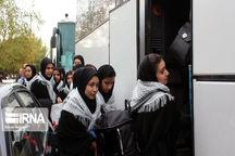 ۳۶ دانشآموز دختر نیمروزی به مناطق عملیاتی جنوب اعزام شدند