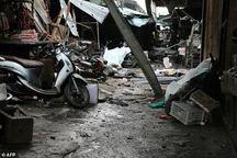 عکس/ انفجار موتور سیکلت بمب گذاری شده در تایلند