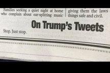 سرمقاله سه کلمهای نیویورکپست درباره توئیتهای ترامپ