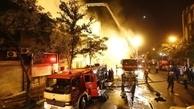 آتش سوزی گسترده در خیابان امیرکبیر تهران/ مصدومیت 3 نفر + تصاویر