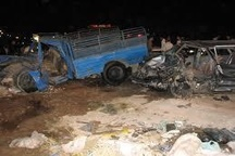 22 کشته و مجروح بر اثر واژگونی نیسان اتباع بیگانه در فارس