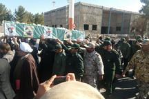 تشییع پیکر شهید مدافع حرم بر شانه های مردم کرمان