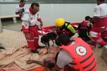 تمرین امداد و نجات ساحلی در اهواز برگزار شد