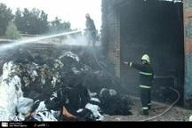 آتش سوزی کارگاهی حلاجی در کاشان مهار شد