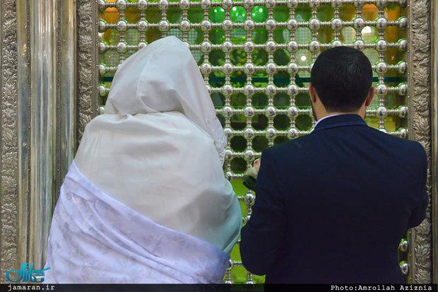 آغاز زندگی مشترک در حرم مطهر امام