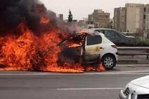 انفجار خودرو 206 در حوالی بیمارستان امام ایلام