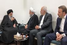 حضرت آیت الله سیستانی در دیدار با روحانی مطرح کرد: یادآوری جانفشانی های مردم عراق و نقش دوستان در نبرد با داعش