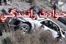 برخورد پژو با حفاظ جاده حبیب آباد به اصفهان 6 مصدوم برجا گذاشت