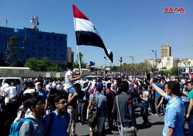 جشن پیروزی در دمشق+ تصاویر