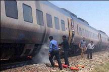 آتش سوزی در یکی از واگن های قطار مسافربری تهران- مشهد